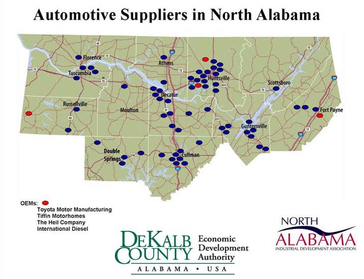 Auto Suppliers in North Alabama